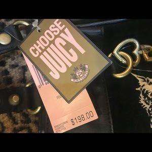 **NEVER WORN** Juicy Couture black velour purse